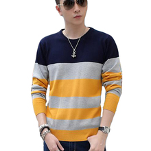 Hot Sell Men Sweaters Spring Autumn Patchwork Pullovers Full Sleeve O-Neck Casual Slim High Quality Brand Sweaters Tops New