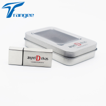 Trangee Metal Square USB Flash Drive 4GB 8GB 16GB 32GB Pen drive USB 2.0 Flash Memory Stick Gift box Custom Logo Color Printing