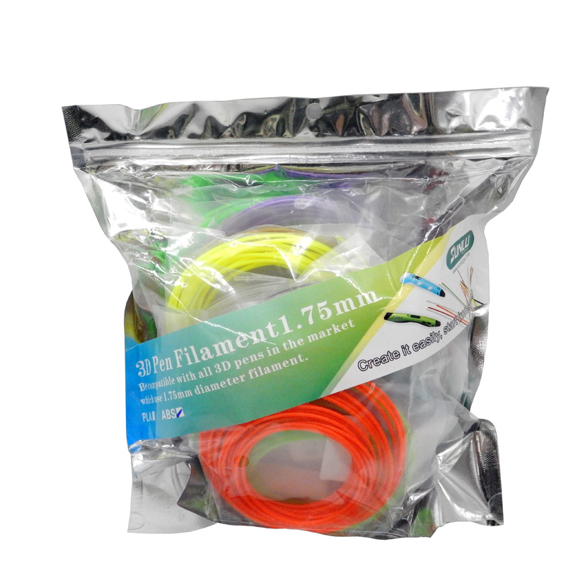 ABS SUNLU 3D Pen printing Filament 20 Colours including 4 Luminouse Light 3D Printer Filaments Consumables