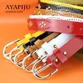 2016 women punk strap ladies patent leather rivet riemen colorful fashion kemer female pu belt high quality