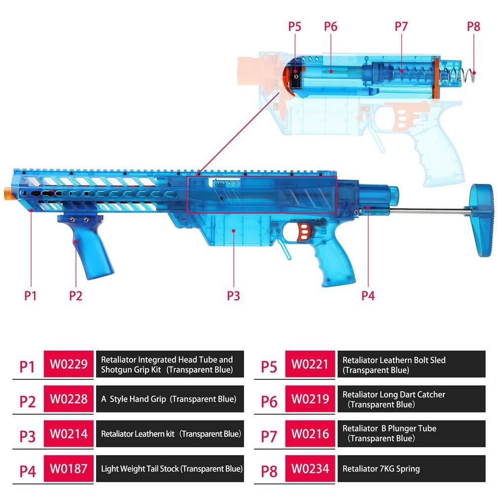 YY-R-W004 ouvrier/YY-R-W005 Kit de Mod de Style RMCX pour Nerf n-strike Elite Stryfe Blaster B Kit de pompe accessoires de pistolet jouet - 4