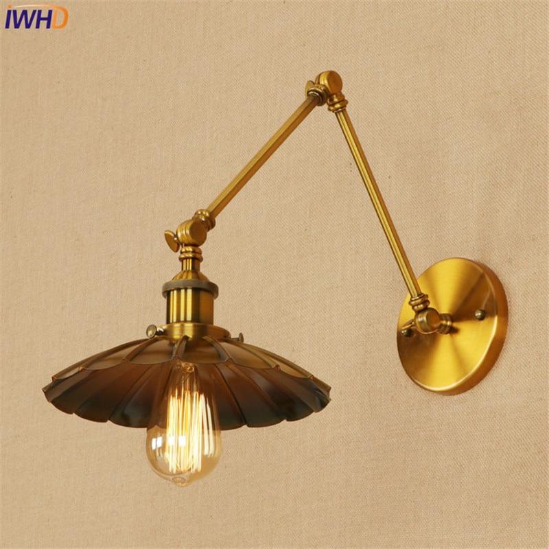 Lâmpadas de Parede ajustável balanço braço longo luminárias Estilo : Vintage