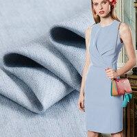 145cm Wide High End Linen Fabric Gray Blue Comfortable Soft Delicate Linen Fabric Clothing Pants Suit