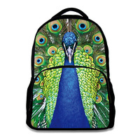 3D Parrots Peacock printing backpacks men multifunctional fashion cool big capacity backpacks college tide bags DOG3