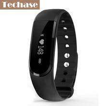 Techase фитнес-трекер спортивный cicret браслет монитор сердечного ритма SmartBand шагомер Reloj зарядка через USB водонепроницаемый PK mi Группа 2