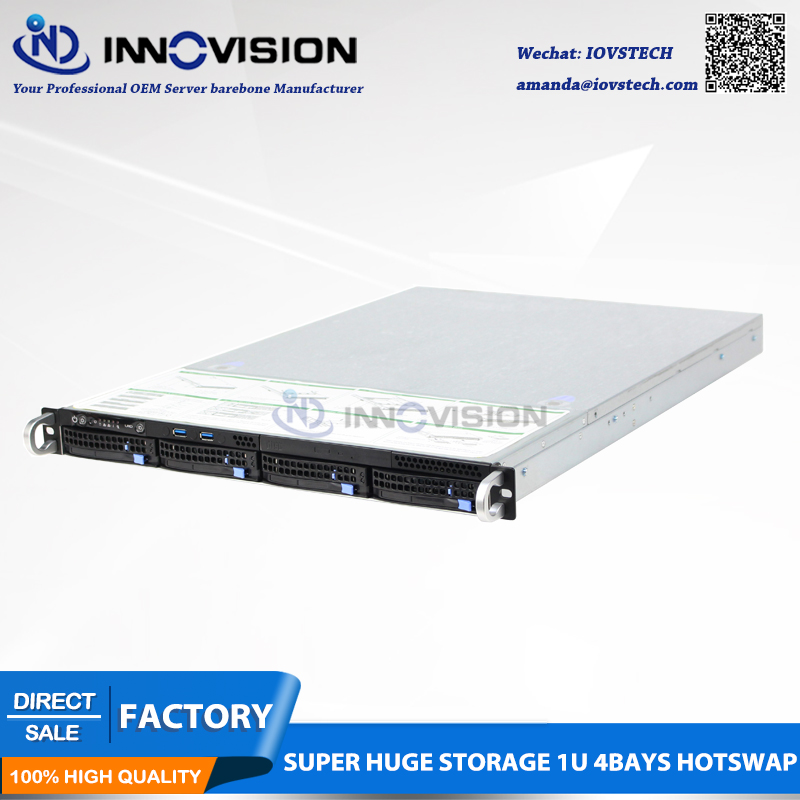 Super Huge Storage 4 Bays 1u Hot Swap Rack NVR NAS Server Chassis Customzied Server Barebone X16504