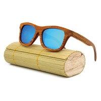 2019 New Fashion Men Women Polarized Bamboo Sunglasses Wooden Retro Vintage Summer Glasses for Driving Mirror Coating Lens WT01