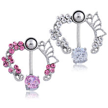 New Hollow Belly Button Rings Sexy Body Piercing Bars Piercings Navel Piercing Gothic Fine Jewelry Body C717