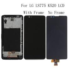 "5.7 ""aaa lg ls775 k520 lcd 디스플레이 터치 스크린 유리 패널 프레임 수리 키트 교체 전화 부품 + 무료 배송"