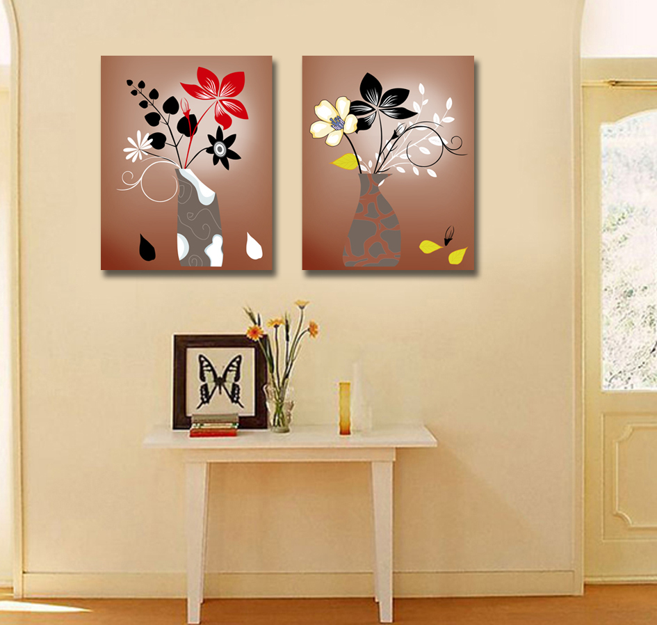 Aliexpress.com : Buy CLSTROSE Abstract Flower Canvas Painting 4 ...