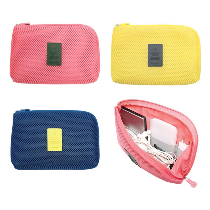 Travel Universal Digtal Storage Bag With Mesh and Sponge Shockproof for Electronics Accessories Cosmetic Makeup Data Cable