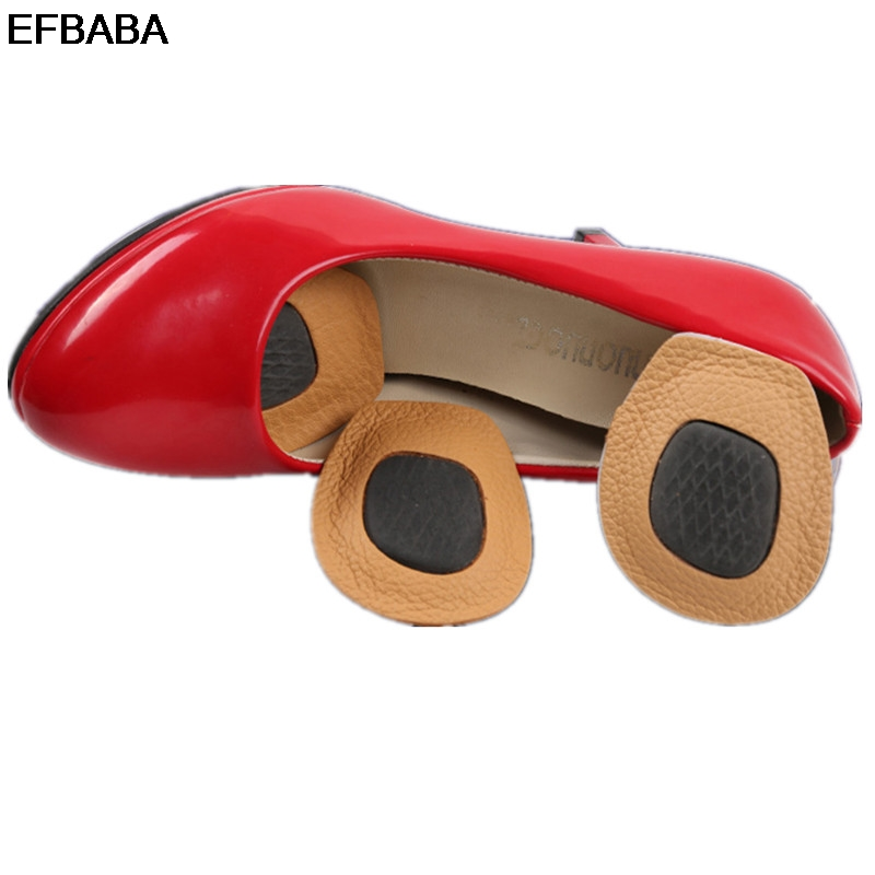 EFBABA Leather Insole Forefoot Pad Anti Slip High Heel Insole Women Shoe Pad Foot Pain Relief Accessoire Chaussure Shoes Inserts