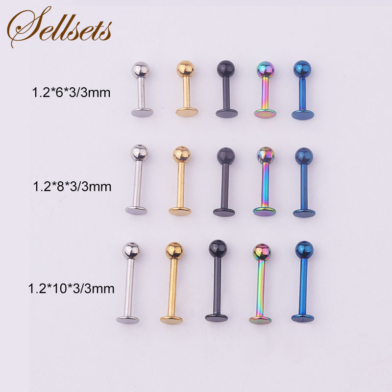 Sellsets Body Jewelry 5pcs/lot Helix Lip Piercing Ring