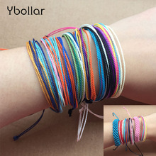 1pc Boho Summer Beach Surf Bracelets For Men Women Handmade Multilayer Woven Friendship Bracelet Wax String Waterproof