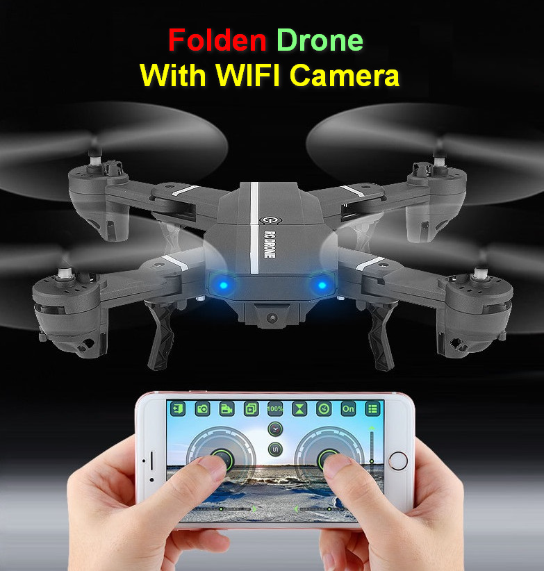 Mini Foldable Drone with HD WiFi Camera RC Quadcopter Helicopter remote control dron folded foldable  quad copter children gift remote control charging helicopter