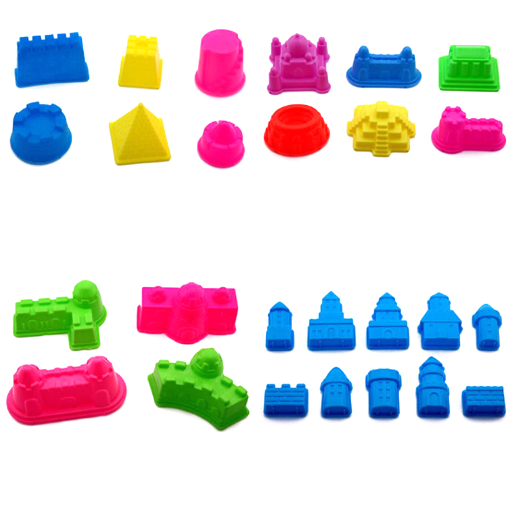 1set Multi Style Indoor Magic Play Sand Castle Models Building Dynamic Magic Sand Clay Model Building Toys DIY Educational Toys