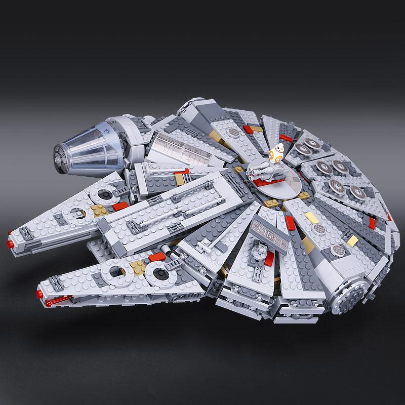 ФОТО In stock 05007 Millennium Falcon Force Awakening Star Wars 7 Building Blocks Toys For Children Star Wars Toys 10467