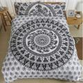 BeddingOutlet Vanitas Bedding Bohemia Modern Bedclothes bedclothes Home Black and White Printed Quilt Cover 4Pcs Hot Sale