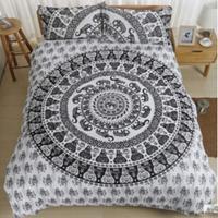 BeddingOutlet Vanitas Bedding Bohemia Modern Bedclothes bedclothes Home Black and White Printed Quilt Cover 4Pcs Hot Sale