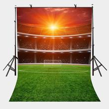 150x220cm Football Field Backdrop Sunshine Bustling Photography Background for Camera Photo Props
