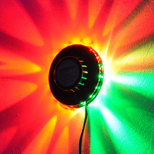 Sunflower Stage Light RGB Laser Projector Lighting 48 LEDs Bar Party Disco DJ Effect Sound Control Small Sunlight UFO Lamp