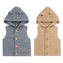 Sweater Jackets Coats Cardigans-Tops Toddler Girl Newborn-Baby Infant Boys Children Sleeveless