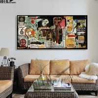 Painting Decoration Notary Jean Michel Basquiat Neo Graffiti Artwork Printed Canvas For Bedroom Home Decoration Frameless