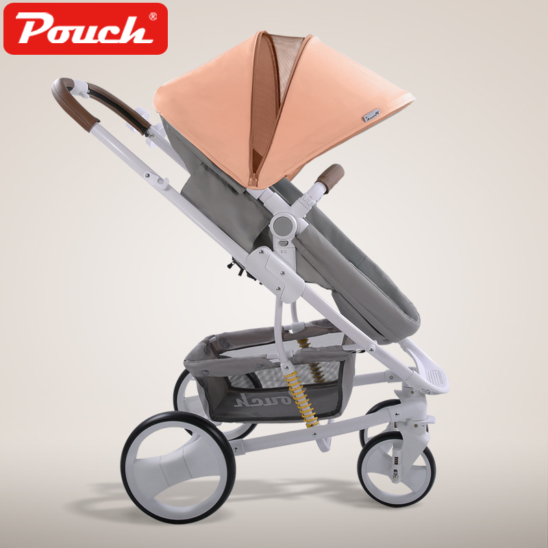 High Landscape Baby Stroller Light Folding Baby trolley Two-Way Push Child strollers Luxury Baby Umbrella carts