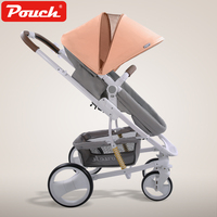 High Landscape Baby Stroller Light Folding Baby trolley Two Way Push Child strollers Luxury Baby Umbrella carts