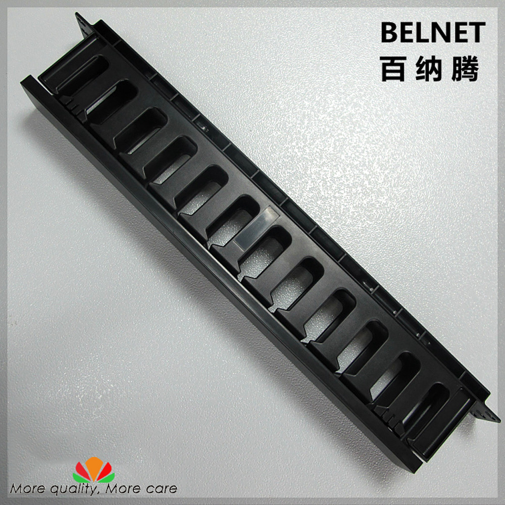 цена на BELNET 19-inch Cabinet 1U Network Rack Cable Management 12 Stalls Plastic Frame Line Organizers Panduit Type For Patch Panel AMP