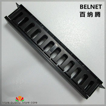 BELNET 19-inch Cabinet 1U Network Rack Cable Management 12 Stalls Plastic Frame Line Organizers Panduit Type For Patch Panel AMP