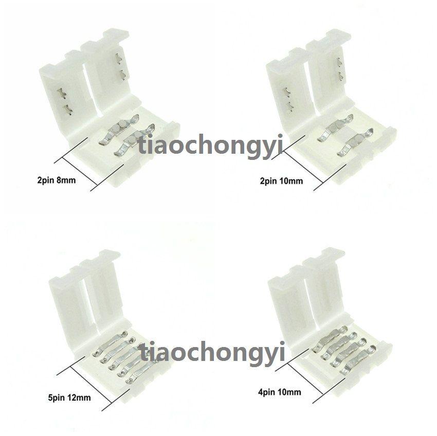Светодиодные полосы разъемы 2Pin 8 мм/2Pin 10 мм/4PIN 10 мм/<font><b>5pin</b></font> 12 мм Бесплатная сварки