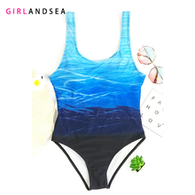 GIRLANDSEA New 2019 One-pieces Swimsuit Printed