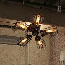 Moda negro moderno 5 luces arte pomelo loft Cocina lámpara de techo Accesorio de iluminación luminaria para comedor/sala de estar/bar
