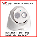 Dahua câmera ip luz das estrelas ipc-hdw4233c-a h.265 microfone embutido 2mp ir 50 m câmera dome poe rede ip câmera de segurança digital onvif