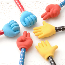2 шт. Творческий жест ручки милый мультфильм карандаш Карандаши и ластики