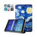 "Van Gogh Design Painting folio stand cover case for samsung GALAXY Tab A 9.7 T555 T550 T550 P550 9.7"" tablet case+stylu+Film"