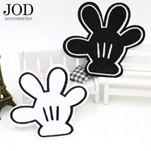 JOD Cartoon Hand iron on patches for clothing children DIY embroidery patch applique clothes decorative stickers applications jod 10 4cm 67 wing diy iron on decorative biker patches for clothes applications embroidery patch applique stickers badge fabric