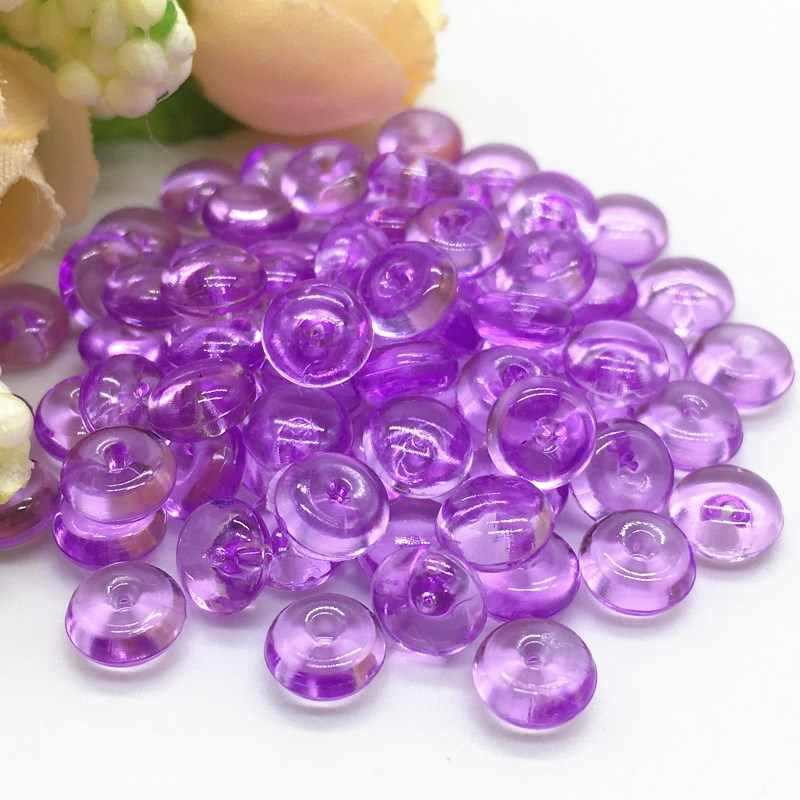 Transparent Acrylic Round Beads DIY Fluffy Slime Clay Anti Stress Toy Creative Fishbowl Crystal Beads Crafts Party Supply 10g