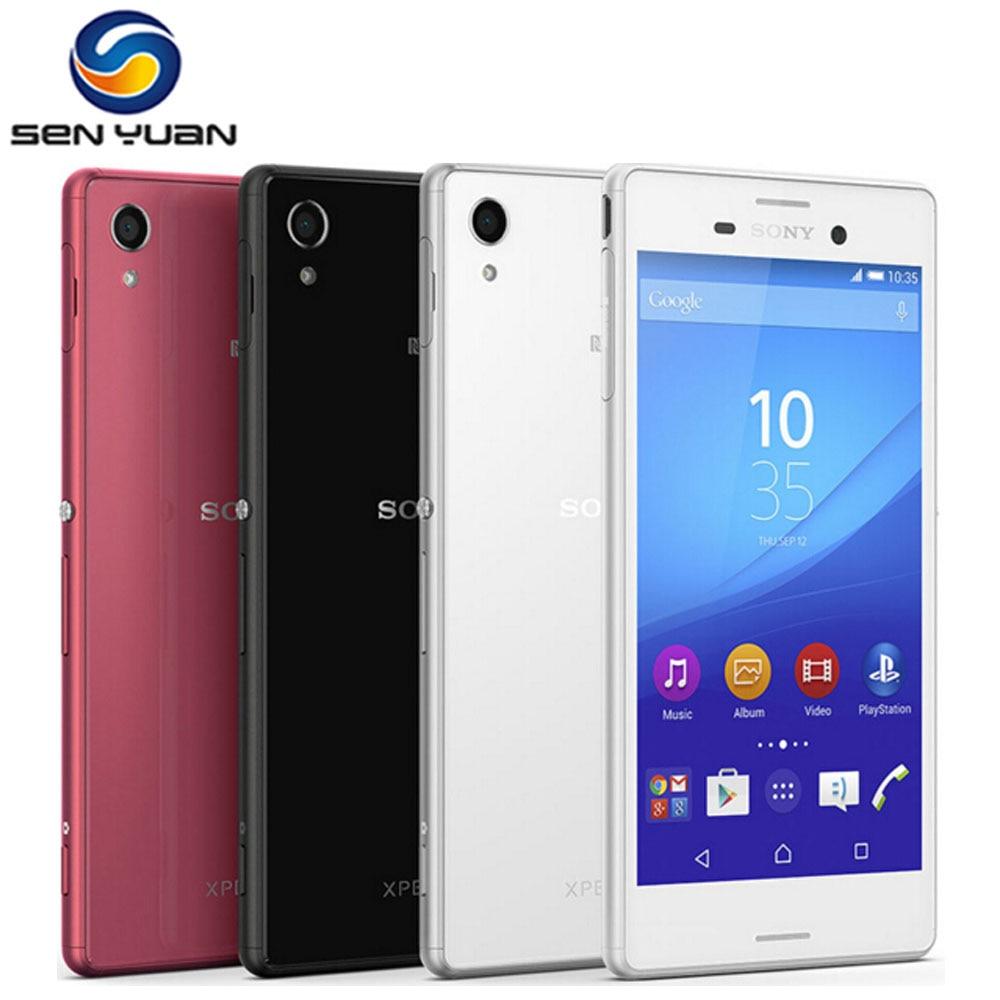 Цена за Оригинальный Разблокирована Sony Xperia M4 Aqua E2303 Мобильный Телефон Quad Core 13MP 2 ГБ RAM 8 ГБ ROM 3 Г и 4 Г Wi Fi GPS m4 Сотовых телефон