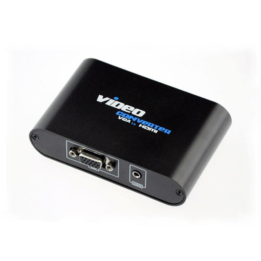 Nouveau VGA à HDMI Convertisseur VGA avec Audio à HDMI Converter Support transfert Signal de L'ordinateur Portable, PC, DVD, TV Box, moniteurs