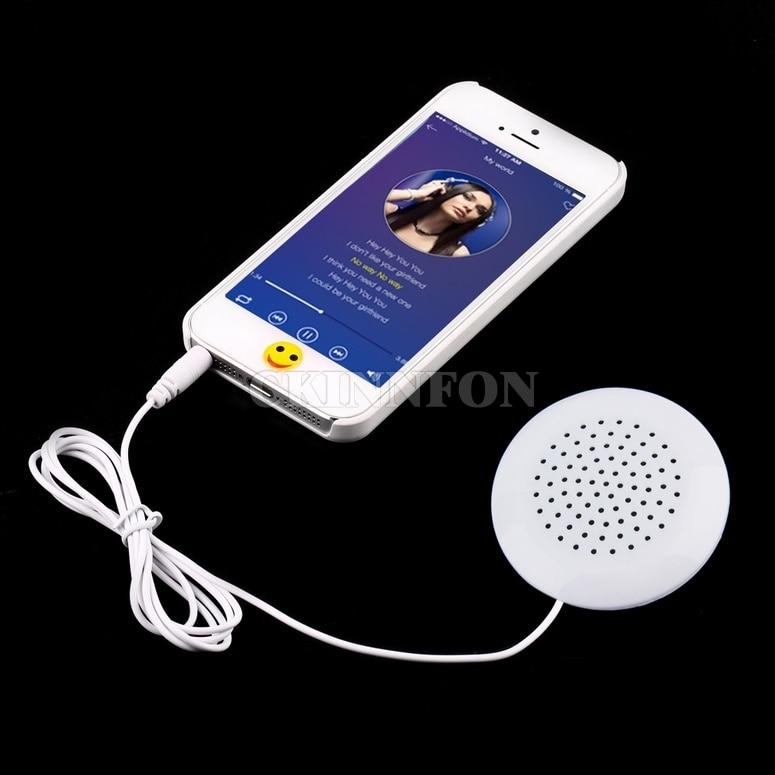 DHL 200PCS Mini White 3 5mm Pillow Speaker for MP3 MP4 Player iPhone iPod CD Radio