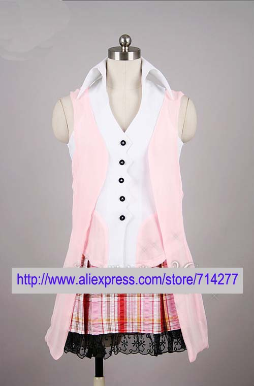 Free shipping Custom Cheap Serah Cosplay Costume from Final Fantasy XIII Anime clothing Christmas