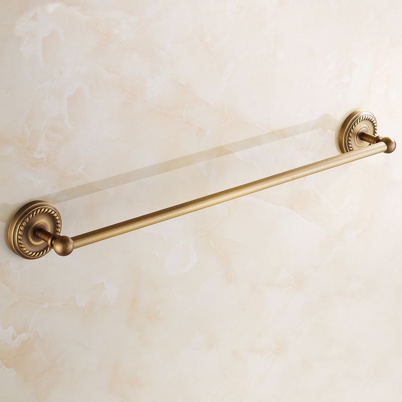 Customize 30-50CM Copper single bathroom towel bars racks, Hotel Wall mounted towel rack shelf, Free shipping free shipping single layer towel racks with hooks plastic towel holder wall powerful suction cup bathroom towel shelf