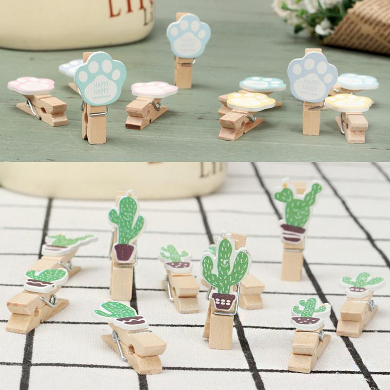 Image 4 - INS Color Hemp Rope Wooden Clip Wedding Fashion Wood Clip Cute Photo Wall Clip Message Notes DIY Photo Wall Craft Decoration-in Photo Albums from Home & Garden