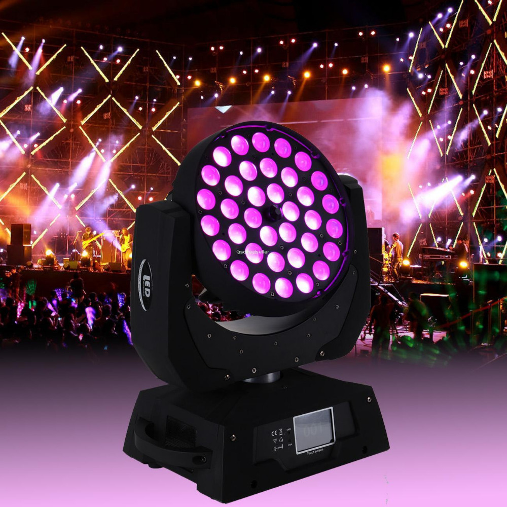 (Shipping from Germany) 36x10W RGBW LED Zoom Moving Head Light Red Green Blue White LED Effect Disco Head Spot Lamp Christmas DJ sb331 cool skull head style 2 led red light keychain w sound effect white black 2 x ag10