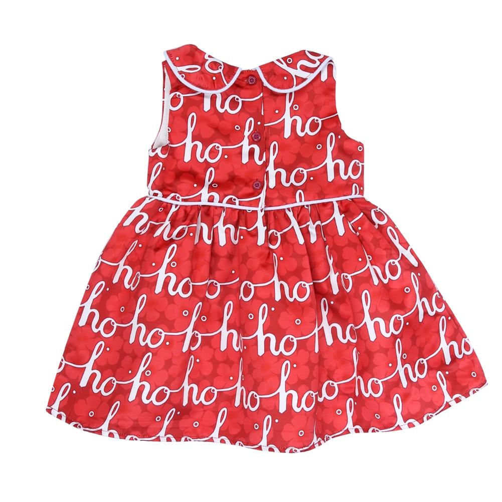 Princess Dress Girls Wedding Red Peter Pan Collar Dress Sleeveless ...