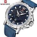 Naviforce роскошные мужские военные спортивные часы Мужские Аналоговые кварцевые кожаные водонепроницаемые наручные часы Relogio Masculino 9122