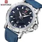 Naviforce Luxe Mannen Militaire Sport Horloges Mannen Analoge Quartz Lederen Waterdichte Polshorloge Relogio Masculino 9122