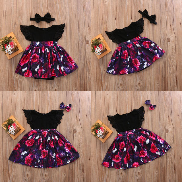 f6f361d98339 Toddelr Kid Baby Girl Sister Matching Floral Jumpsuit Romper Dress Outfits  Set Infant Girls Summer Sundress Rompers